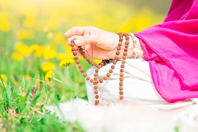 L'uso di Mala durante la meditazione