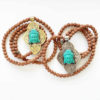 Mala Rudraksha Buddha oro e silver