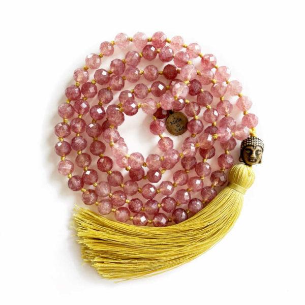 Mala in quarzo rosa 6 mm